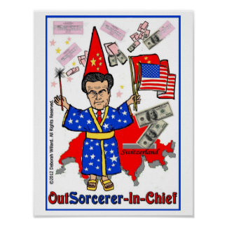 Romney: OutSourcerer-In-Chief Poster