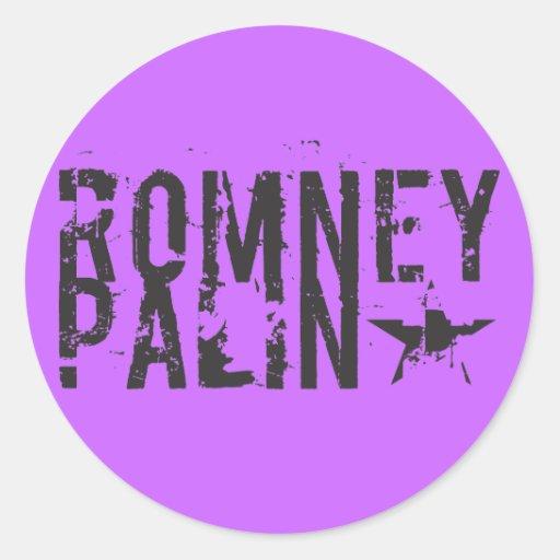 Romney Palin Pegatina Redonda