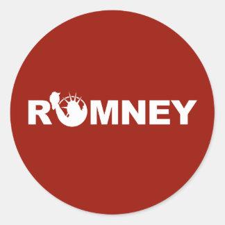 Romney para el pegatina redondo de la libertad -