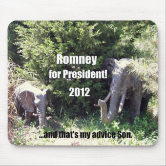 Romney para el presidente - 2012 alfombrilla de ratones