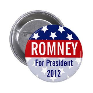 Romney para el presidente 2012 botón retro pin