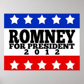 Romney para el presidente 2012 impresiones