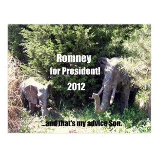 Romney para el presidente - 2012 postales