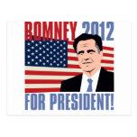 Romney para el presidente 2012 postales