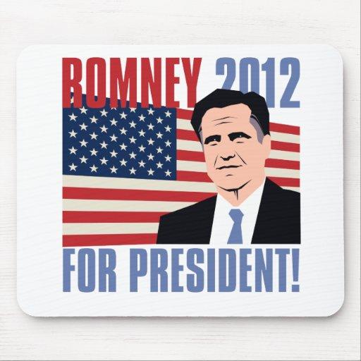 Romney para el presidente 2012 alfombrillas de ratones