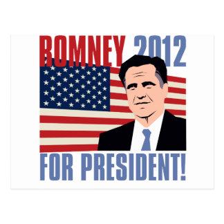 Romney para el presidente 2012 postal