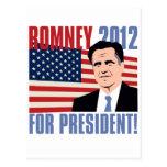 Romney para el presidente 2012 tarjetas postales