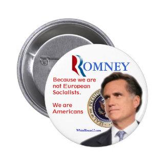 Romney para el presidente pin redondo de 2 pulgadas