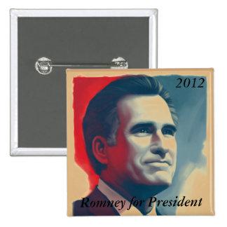Romney para el presidente pins
