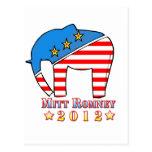 Romney para el presidente tarjetas postales