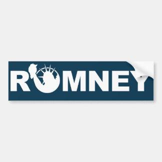 Romney para la pegatina para el parachoques de la etiqueta de parachoque