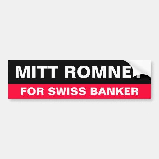 Romney para la pegatina para el parachoques suiza  pegatina para auto