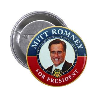 Romney para presidente Button Pin Redondo De 2 Pulgadas