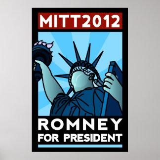 Romney para presidente Liberty Poster
