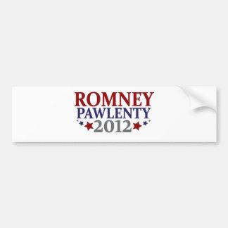 Romney Pawlenty 2012 Pegatina De Parachoque