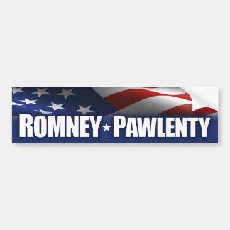 Romney - Pawlenty - 2012 Pegatina De Parachoque