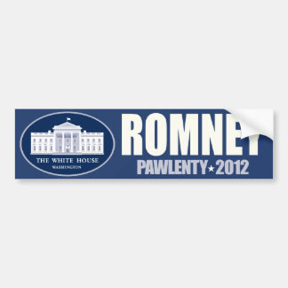 Romney - Pawlenty - 2012 - logotipo de la Casa Bla Etiqueta De Parachoque