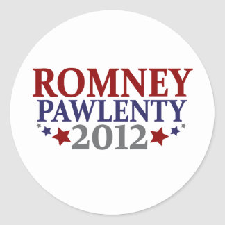 Romney Pawlenty 2012 Etiquetas Redondas