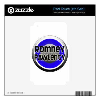 Romney Pawlenty 2012 iPod Touch 4G Decal