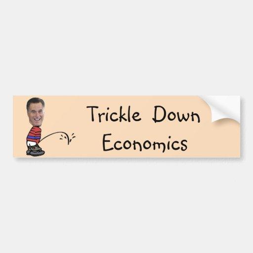 Romney Peeing Economics Car Bumper Sticker