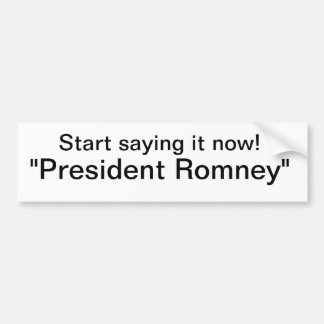 Romney Pegatina Para Auto