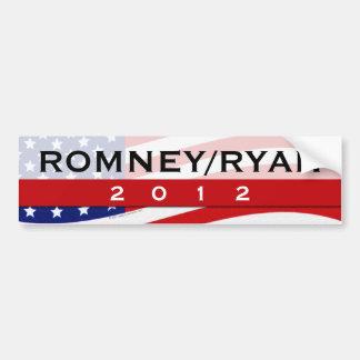 Romney/pegatina para el parachoques 2012 de Ryan Etiqueta De Parachoque