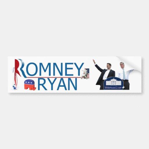 Romney/pegatina para el parachoques 2012 de Ryan Pegatina Para Auto