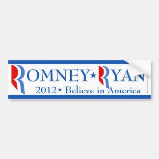 Romney pegatina para el parachoques blanca/azul de pegatina para auto