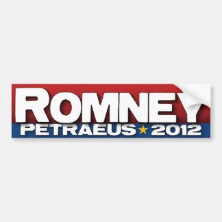Romney - Petraeus - 2012 Bumper Sticker