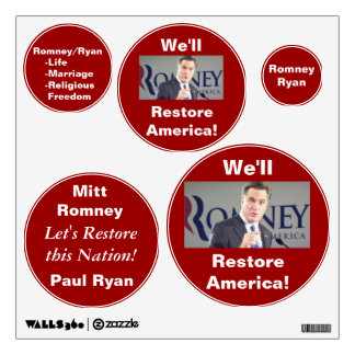 Romney Photo Removable and Reusable Wall Decals