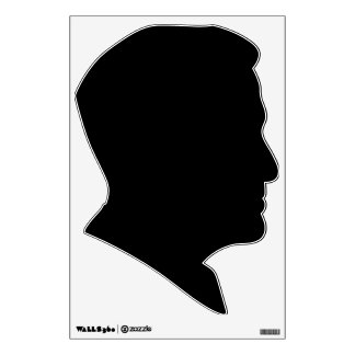 romney political silhouette black wall decal
