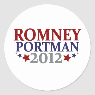 Romney Portman 2012 Classic Round Sticker