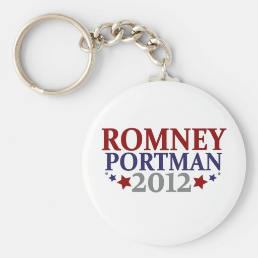 Romney Portman 2012 Llavero Redondo Tipo Pin