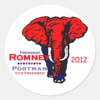 Romney Portman Classic Round Sticker