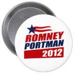 ROMNEY PORTMAN VP STAR BANNER.png Pinback Buttons