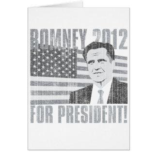 Romney president 2012 card