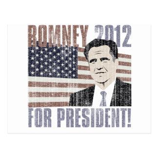 Romney president 2012 postcard