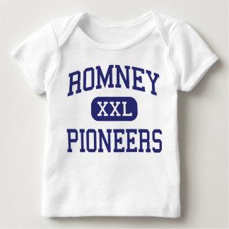 Romney promueve Romney medio Virginia Occidental Playera De Bebé