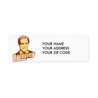 ROMNEY Propaganda Return Address Label