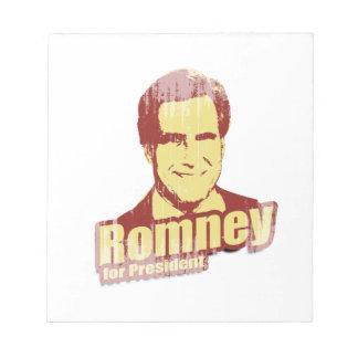 ROMNEY Propaganda png Note Pads