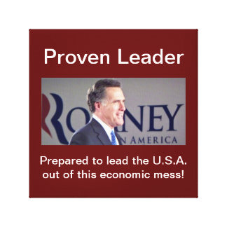 Romney Proven Leader 12x12 Wrapped Canvas Photo Canvas Print