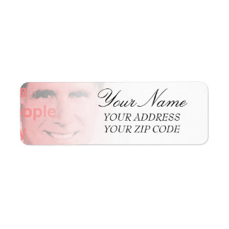 Romney Quote - Corporations are people, my friend Return Address Label