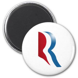 ROMNEY R LOGO 2 INCH ROUND MAGNET