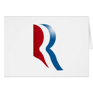ROMNEY R LOGO GREETING CARD
