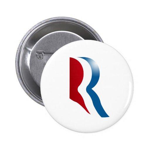 ROMNEY R LOGO PINS