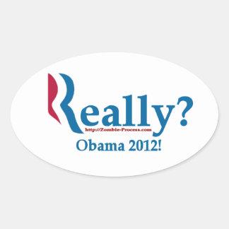 Romney? Really? Oval Sticker