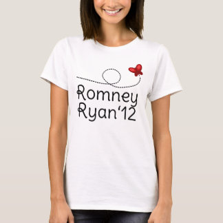 Romney Red Butterfly T-Shirt