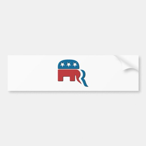 Romney Republican Party Election Logo by Fontico Bumper Sticker