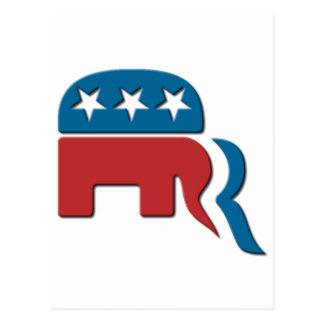 Romney Republican Party Election Logo by Fontico Postcard