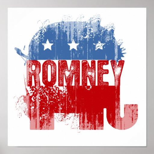 ROMNEY republicano Póster